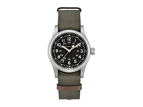 Hamilton Unisex Khaki Field Mechanical - H69429931 Black/Green One Size
