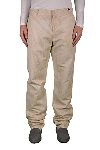 Just Cavalli Linen Beige Distressed Men's Casual Pants US 36 IT 52 Cavalli Linen