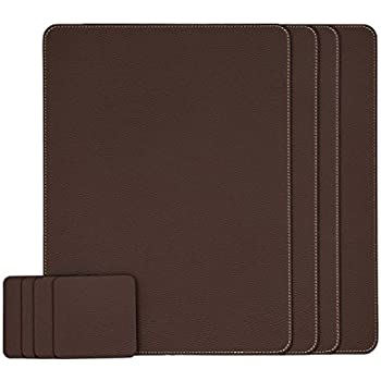 High Quality Nikalaz Set Of Brown Placemats And Coasters, 4 Table Mats And 4 Coasters,  Italian