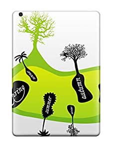 First-class Case Cover For Ipad Air Dual Protection Cover Trees On Seasons