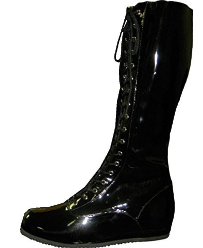 Pro Wrestling Costume Boots (Large, Black)