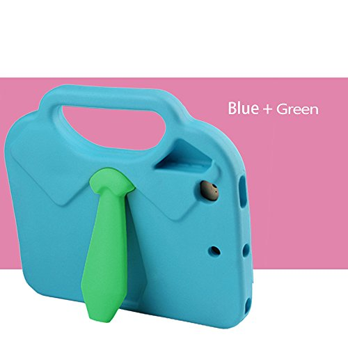 TabPow Suit & Tie iPad Mini Case - [Shockproof][Drop Protection][Heavy Duty] Cute Kids Children EVA Case Cover with Carrying Handle and Stand For iPad Mini and iPad Mini 2 with Retina, Turquoise Blue Photo #3