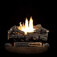 Sure Heat RS30VFTNG Gas Fireplace Logs, ...