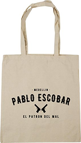 Tote 42cm Pablo HippoWarehouse Shopping mal Beach Escobar litres del patron Gym Natural 10 Bag x38cm el Medellin q0RwqB