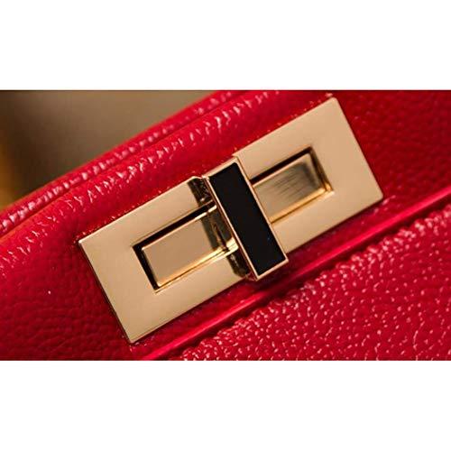 Capacité couleur Cuir Mode Simple Plein Sac À Pour Unie Grande Grey Bandoulière Air Couleur En De Femme Dos Red Américaine Lindou pxvq7UU