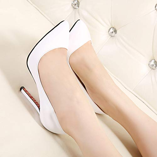 Thick Buckle High Yukun Small Shoes Shoes Cool Shoes Pointed With Fresh High White Baotou Heels 39 Word Leather heels Camel Mouth Hollow Shallow Female Single 88vAqUw