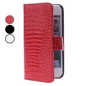 Procesamiento de dos días -Grano del cocodrilo del cuero del estilo de la PU con el soporte y la cartera para el iphone 5/5s (colores surtidos)
