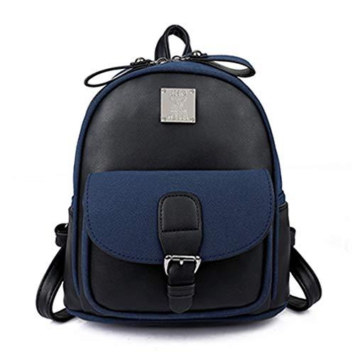 Black Bags School Backpacks 22x14x25cm for Brown Leather Teenage Pu Uy6xOF