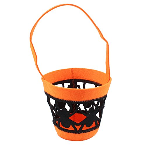 (Hot !DDKK Halloween Tote Bags Pumpkin Candy Bags Halloween Costume Party Bags Trick or Treat Goody Bags for Kids Pack of)