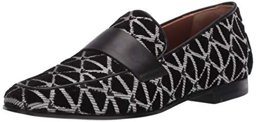 Emporio Armani Women's Velvet Geo Print Loafer Flat