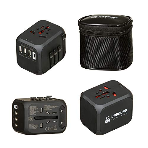 - Universal Travel Power Adapter, High Speed Smart USB Ports, Universal AC Socket, All-in-One International Power in 150 Plus Countries, Unbound Travel Gear