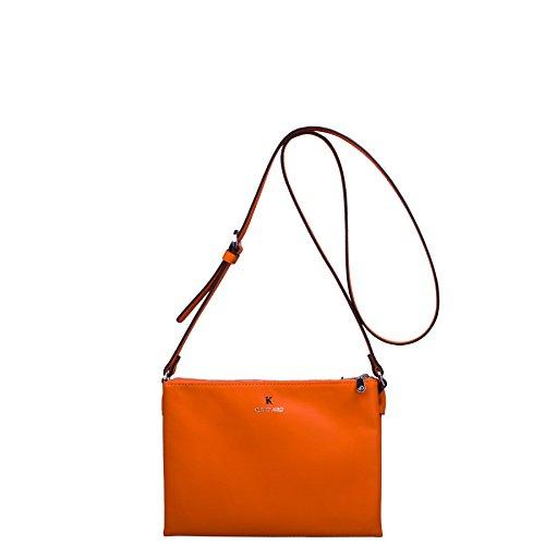 Trendy Orange Lilou en MV Og vachette de Cuir travers Sacs Kesslord lisse Porté XBwPBq