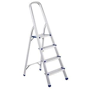 Giantex 4 Step Aluminum Foldable Non Slip Ladder 300lbs