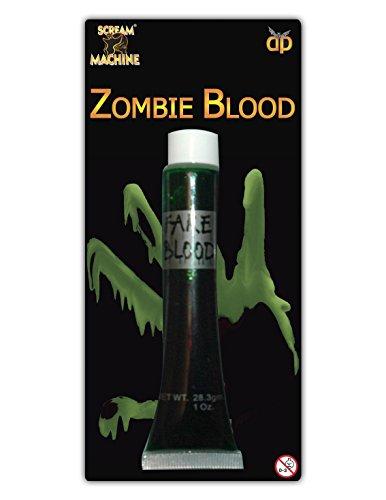 HALLOWEEN MAKEUP FACE PAINT VAMPIRE DEVIL WITCH ZOMBIE CLOWN SET KIT FAKE COLOUR[Zombie Blood,] by (Face Paint For Devil Halloween)