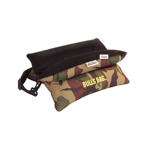 Bulls Bags Polyester/Suede Bench Rest with Carry Strap, Camo, 15