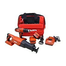 Hilti 03468969 SFH 18A and WSR 18-A 18-Volt Cordless Impact Driver and Reciprocating Saw Combo Including Universal Case