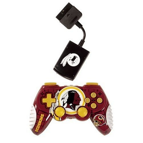 Officially Licensed Washington Redskins NFL Wireless PS2 Controller
