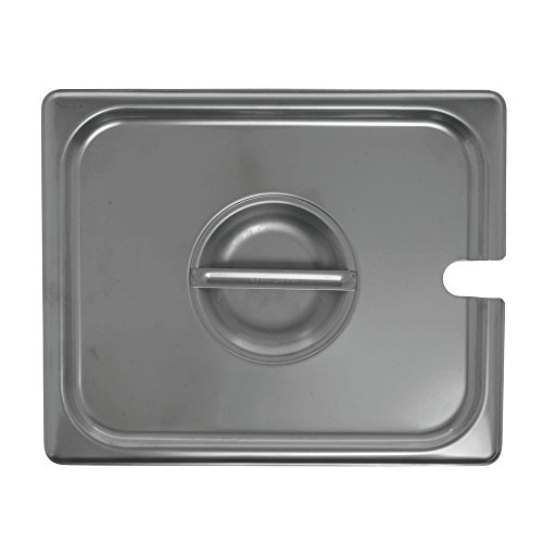HUBERT Steam Table Pan Cover Slotted 1/2 Size 24 Gauge Stainless Steel