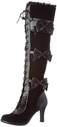 Demonia Women's Glam300/Bvl-Vel Boot - Black Vegan Leathe...