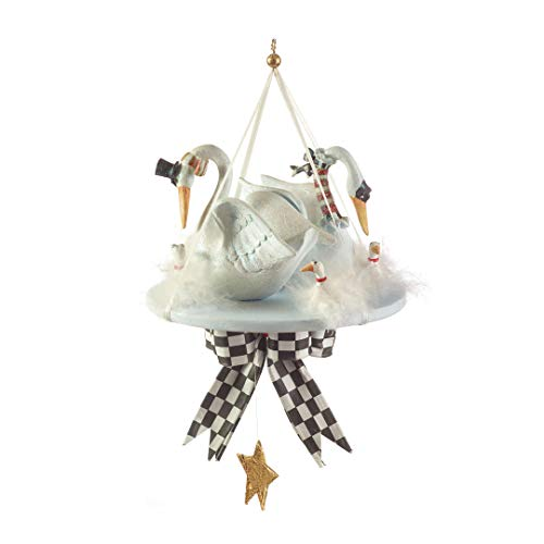 Patience Brewster Twelve Days Of Christmas Seven Swans A Swimming Ornament 08-30345 ()