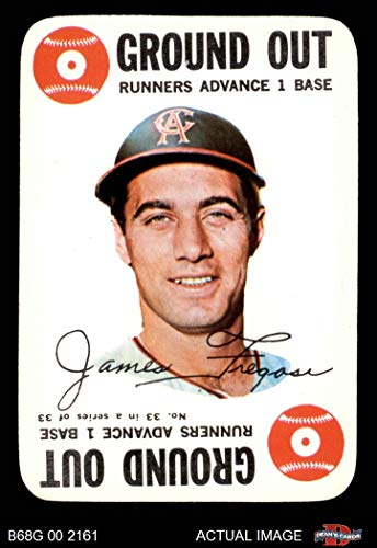 1968 Topps Game # 33 Jim Fregosi Los Angeles Angels (Baseball Card) Dean's Cards 6 - EX/MT - Game Topps 1968