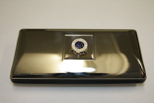 Polished chrome football club glasses case ? Sheffield Wednesday by Knight ()