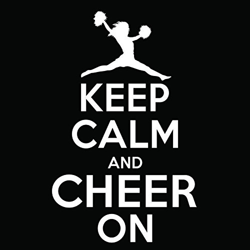 Keep Calm and Cheer On Vinyl Decal Sticker | Cars Trucks Vans Windows Laptops Walls Cups | White | 5.5 X 3.5 Inches | KCD1843