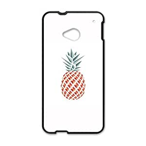 HTC One M7 Cell Phone Case Black Pineapple Reeel