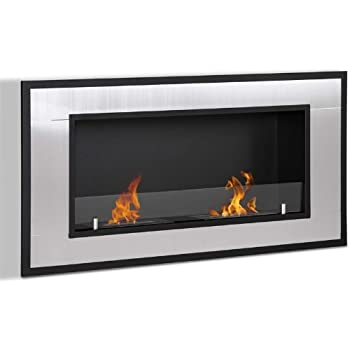 Moda Flame Lugo Wall Mounted Bio Ethanol Ventless Fireplace Non Gel