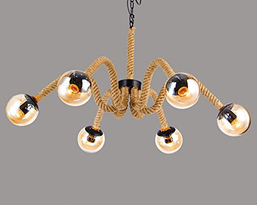 DGS Hemp Glass Chandeliers Bar Spider Magic Beans Lighting Cafe Industrial Wind Lamps Creative Lighting