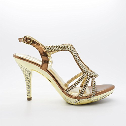 Bride de femme Bronze Footwear London cheville bronze 65xHEaqw