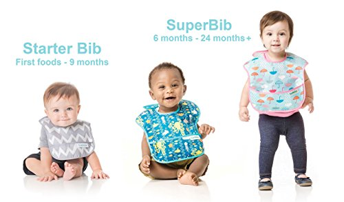Bumkins Baby Bib, Waterproof SuperBib 3 Pack, N16 (Feather/Quill/Arrow) (6-24 Months) by Bumkins (Image #10)