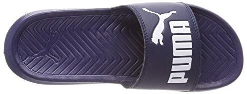 Puma Unisex-Erwachsene Popcat Hausschuh Blau (Peacoat-Puma White)