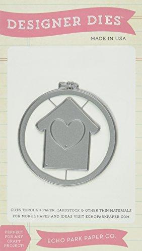 Echo Park Paper Company At Home Embroidery Hoop Die Cut (Die Cuts Park)