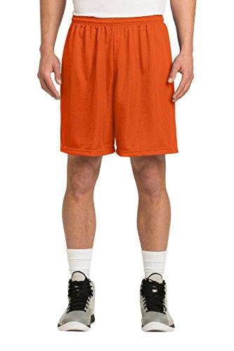 Sport-Tek Men's PosiCharge Classic Mesh Short M Deep Orange