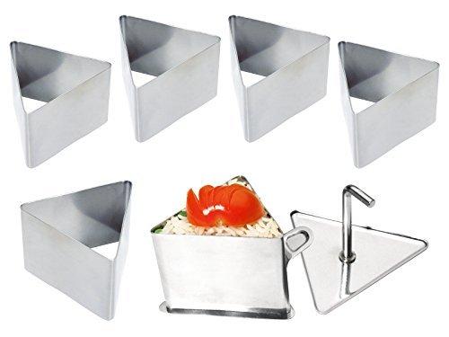chg Set 288-06-60 Profi-Dessert- Speiseringset 8-teilig 6 Dessertringe Schenkellänge 7,5 cm, Höhe 5,5 cm, 1 Stampfer 1 Heber by chg