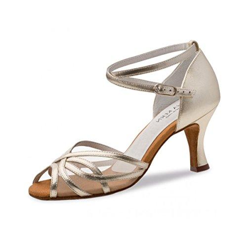 Tanzschuhe Anna 740 cm 60 Kern Gold 6 Leder Damen Gold x41TS