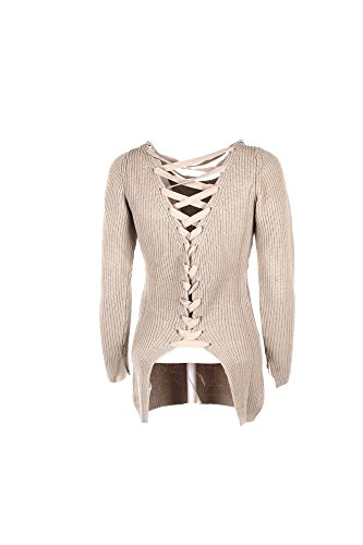 Pull Lacet Jeans Les W73r59 Pull Beiges JEANS GUESS Dos Guess Avec 4fSy6w