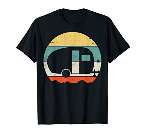 Camper Camping Mobile Nature Vacation Adventure Expedition T-Shirt