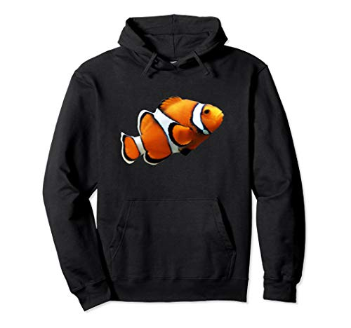 Cute Clownfish Swimming Photo Silhouette Artwork Pullover Hoodie