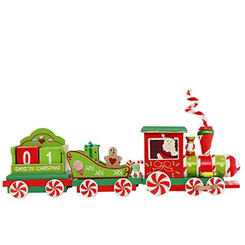 (Lavany® Christmas Wooden Small Train Kids Festive Gift Decorative Pendant,Christmas Decorations)