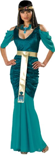 Women'S Costume: Egyptian Jewel- Small - Product Description - Blue-Green Dress, Egyptian Collar, Headpiece And Gold Belt. Adult Women'S Small Fits Size 4-6. ... ()
