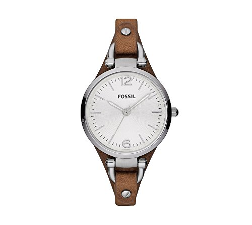 Fossil-Womens-32mm-Georgia-Watch-With-Brown-Leather-Strap