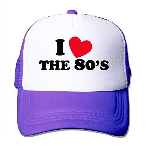 WHROOER I Love The 80S Mesh Hat Unisex Trucker Caps Sun Mesh Back Cap Hat Sport