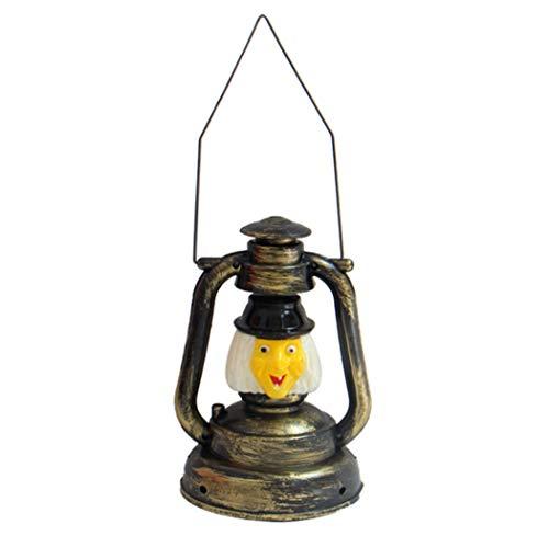 Hillento 3D Halloween Witch Lights, Vintage Retro Style Lantern Music Lights, Scary Music Sound Lantern for Halloween Decorations]()