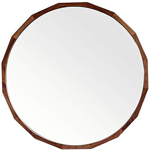 H.yina Wall Mirror with Oak Frame Wall-Mounted Vanity Mirror Living Room Bathroom HD Decorative Mirror (Gläser Klar Rahmen)