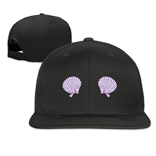Outdoor Baseball Cap Vintage Mermaid Seashell Bra Violet 2for Travel Adjustable Hat - Flotsam And Jetsam Costumes