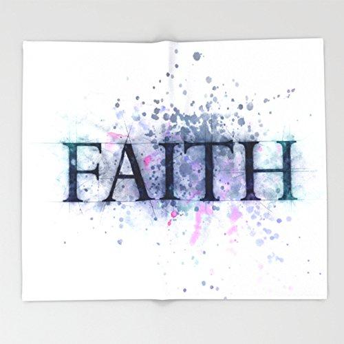 Society6 FAITH Throw Blankets 88'' x 104'' Blanket by Society6