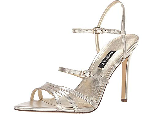 Nine West Women's Gilficco Strappy Sandals Gold 7 M US