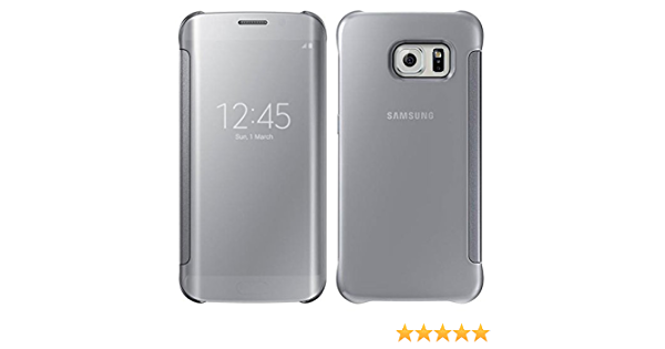 Samsung Galaxy S6 Edge OEM Silver Clear View Cover: Amazon.ca ...